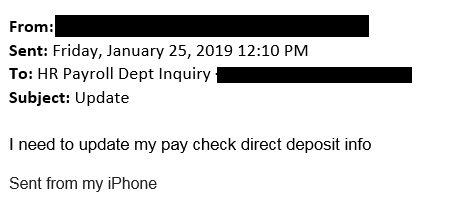 This is an image of a phishing attempt, requesting correspondence.