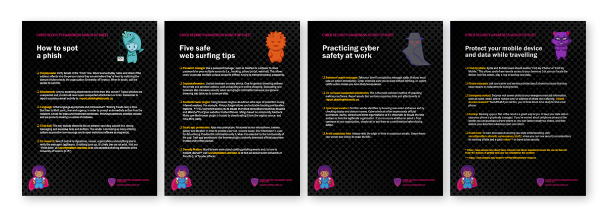 Cyber Security Awareness Month Tip Sheets
