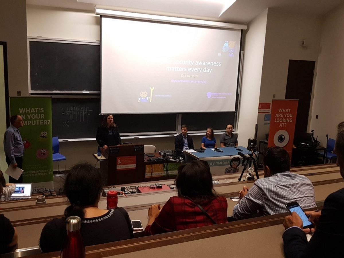 Picture of October 10th's panel discussion.