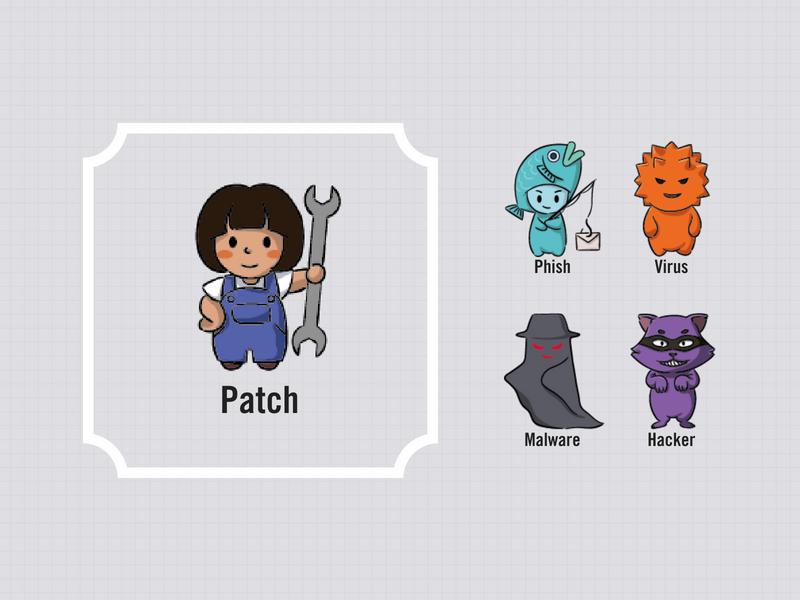 Patch versus the Nefarious Crew: Phish, Virus, Malware, and Hacker