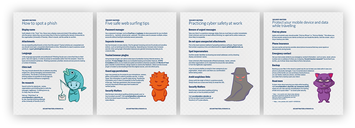 Security Matters Tip Sheets